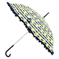 totes Slim Auto Stripey Rose Walker Umbrella