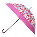 totes Ladies Elegant Walker Cabbage Rose Cut & Sew Umbrella
