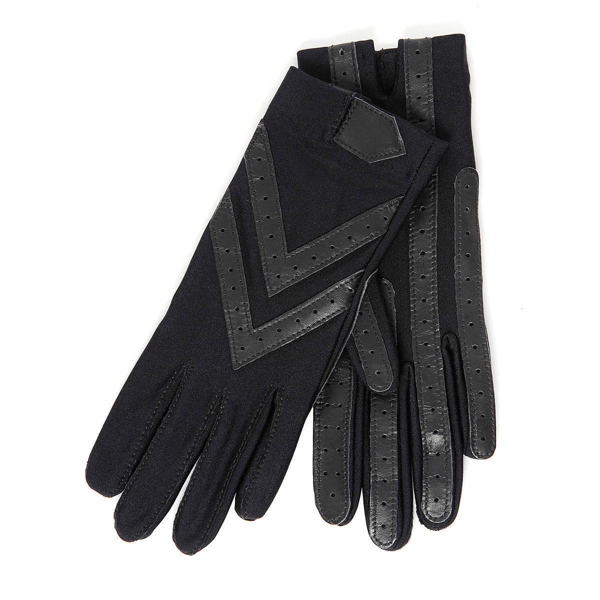 Ladies thermal leather gloves uk - Isotoner Wonderfit Stretch Gloves Black