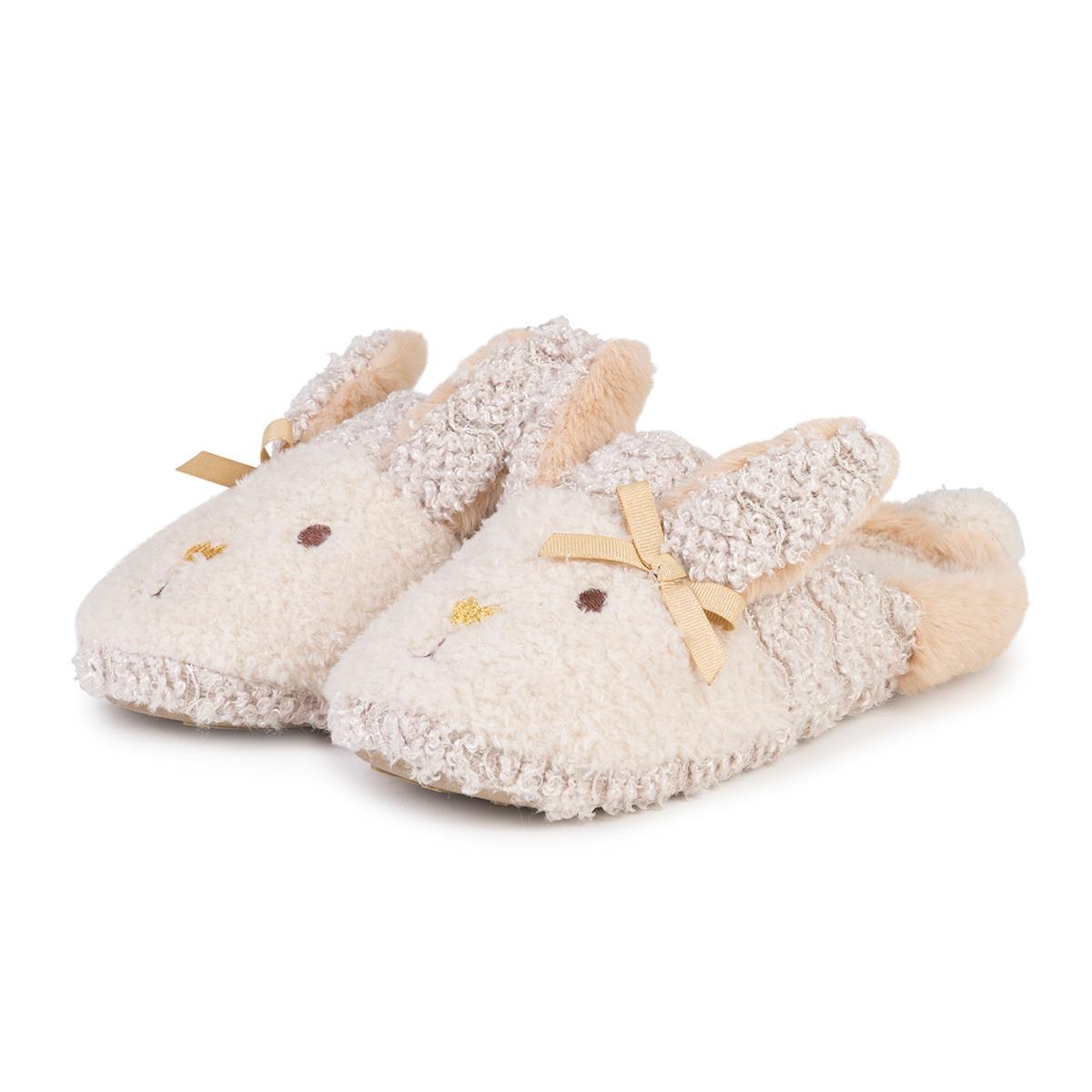 1dd237890bb4 totes Ladies Novelty Rabbit Mule Slippers Beige