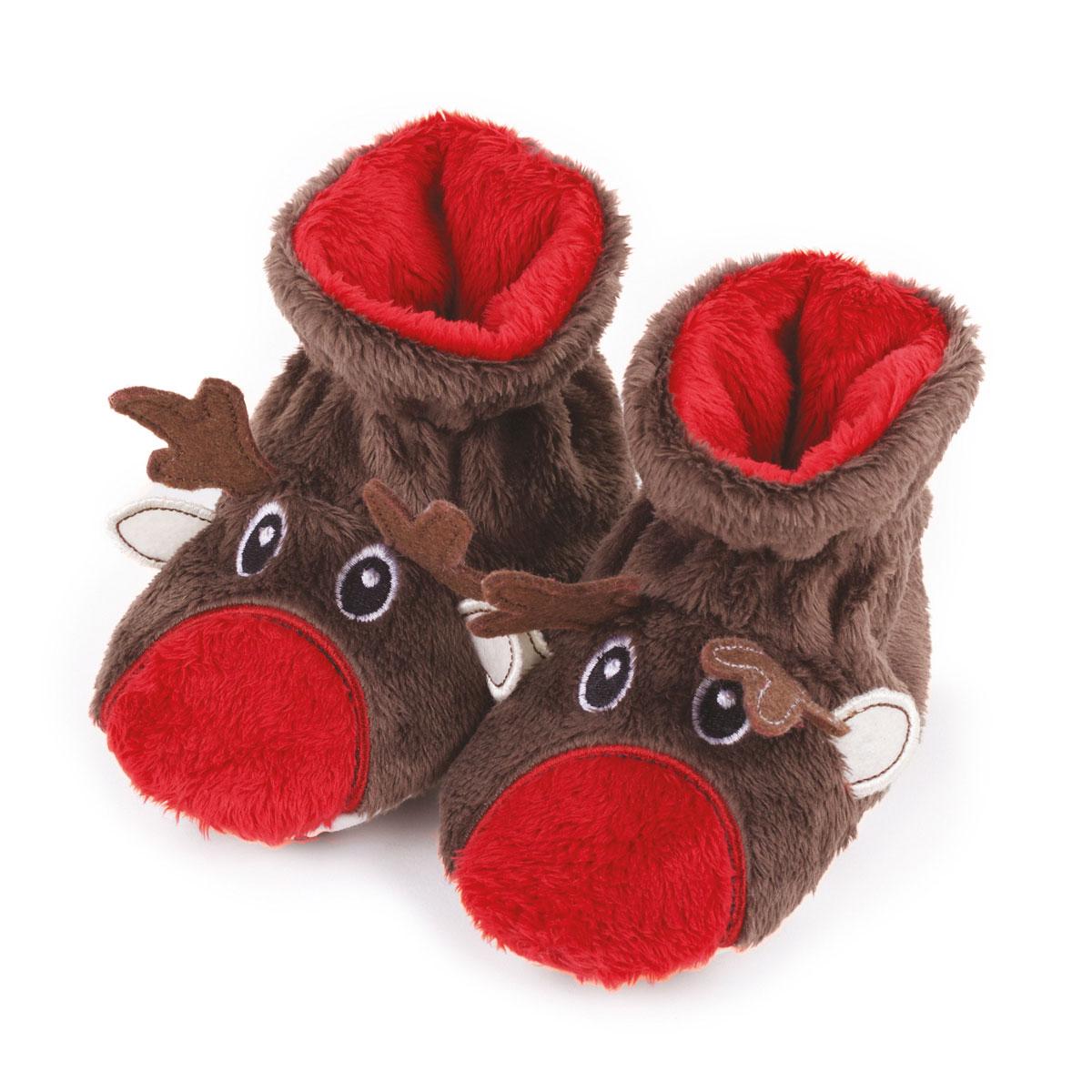 defd2f1b006 totes Unisex Reindeer Slippers Reindeer