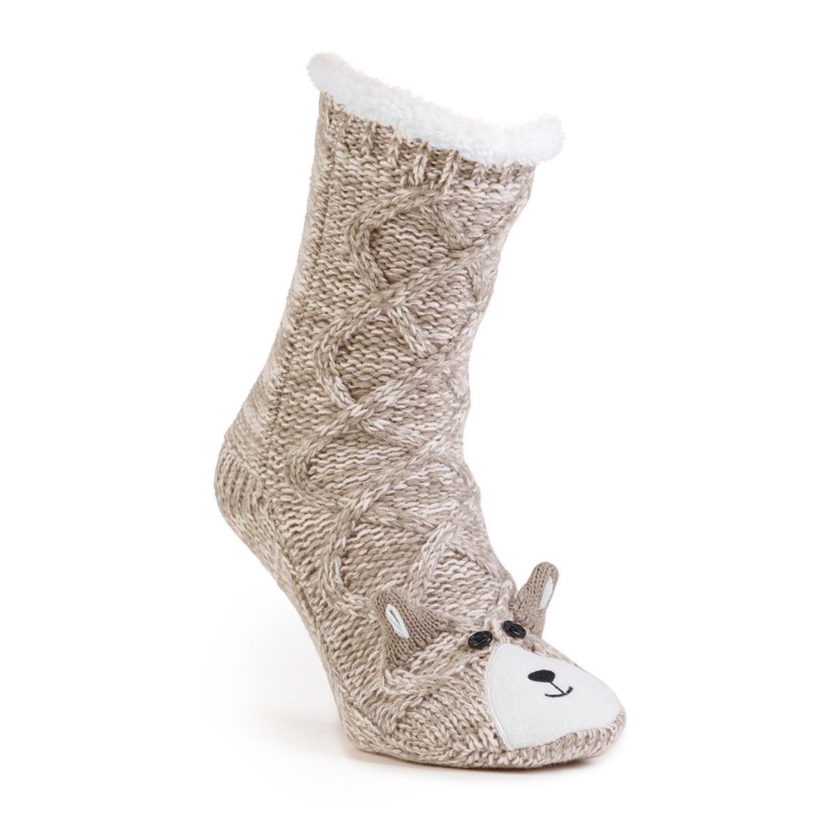 Totes Ladies Chunky Novelty Slipper Socks | Totes ISOTONER
