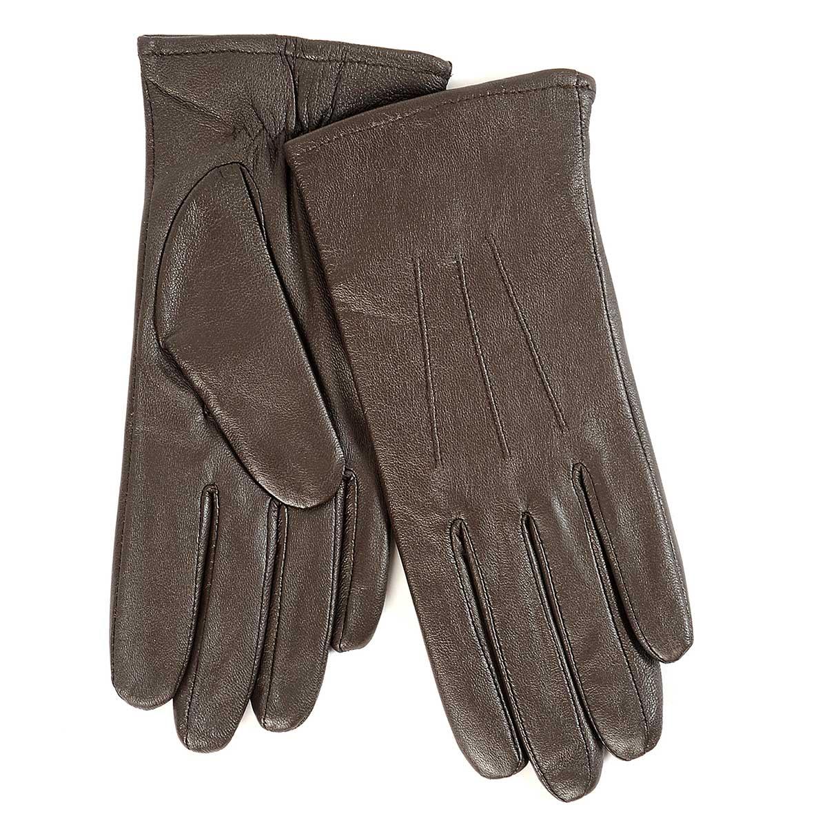 Ladies leather gloves isotoner - Isotoner Ladies 3 Point Waterproof Leather Glove Chocolate