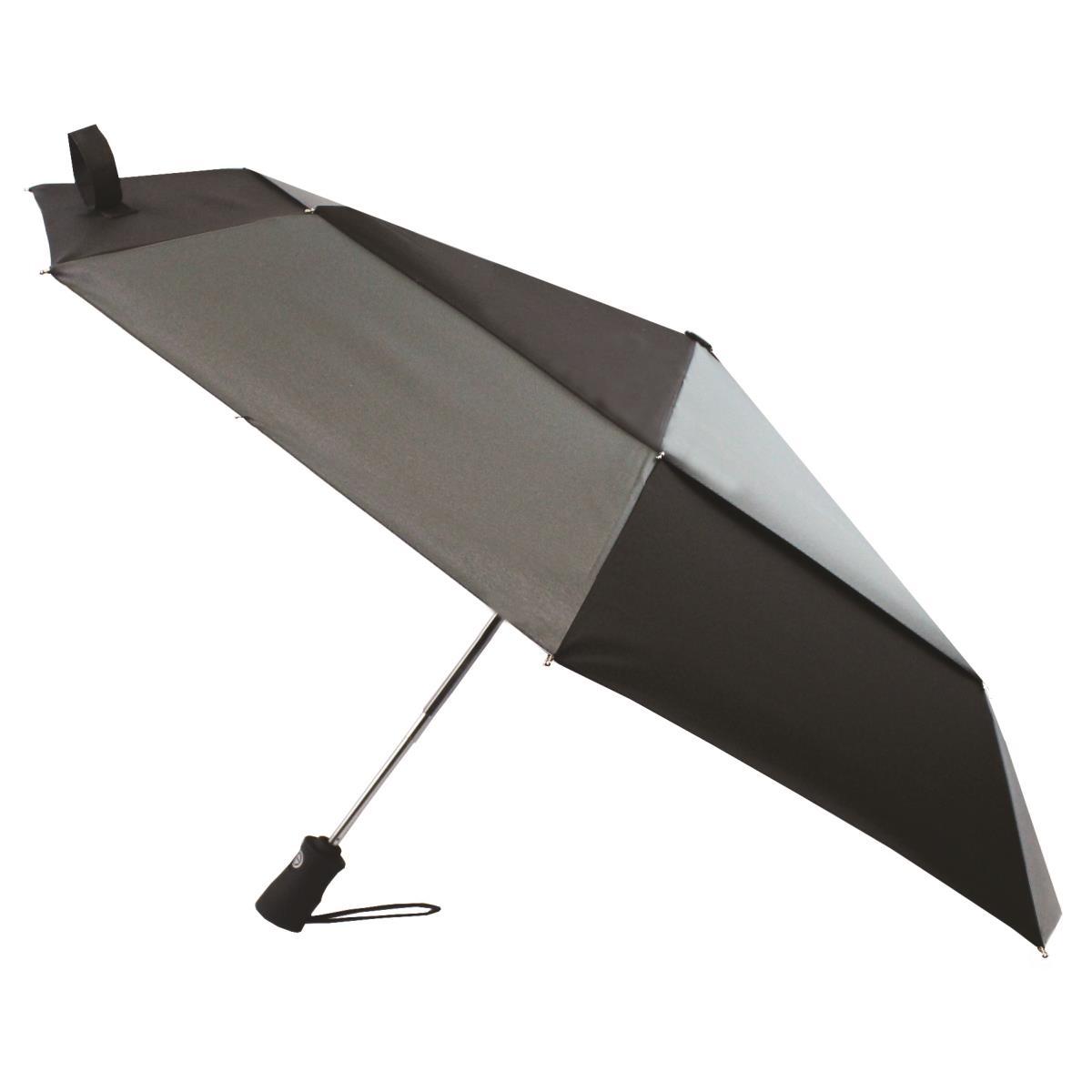 Totes wonderlight auto double canopy umbrella black grey for Canopy umbrella