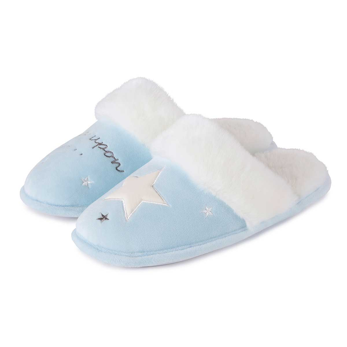 c9e8b5851 totes Ladies Novelty Slippers Blue Star | totes ISOTONER