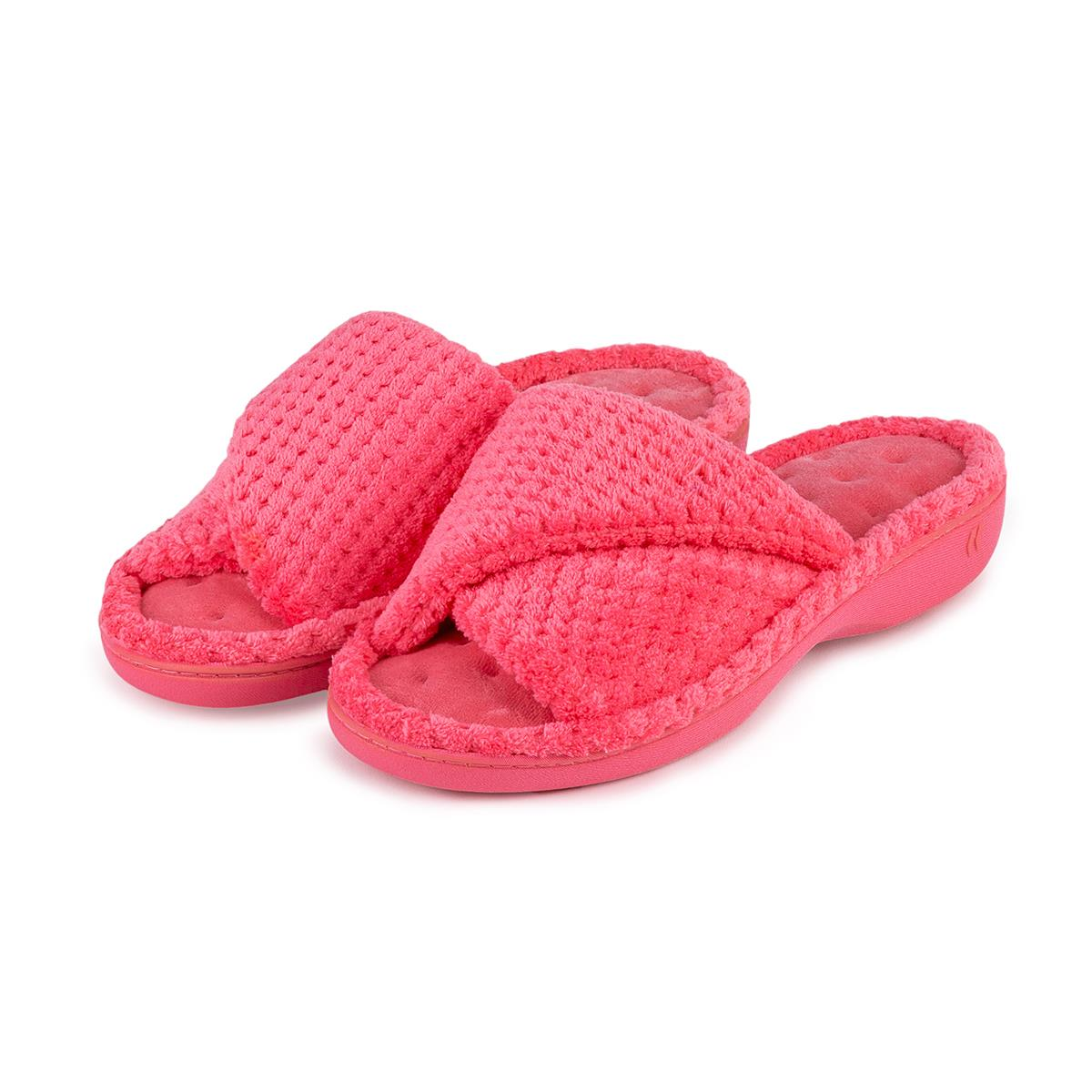 686b28db2a351 Isotoner Ladies Popcorn Turnover Open Toe Slippers