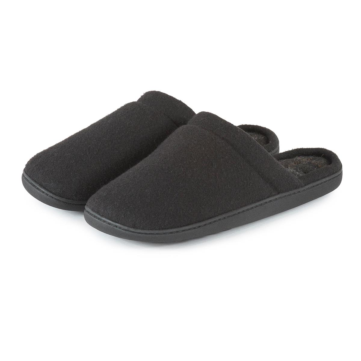 Isotoner Mens Woven Check Pillowstep Mule Slippers Totes