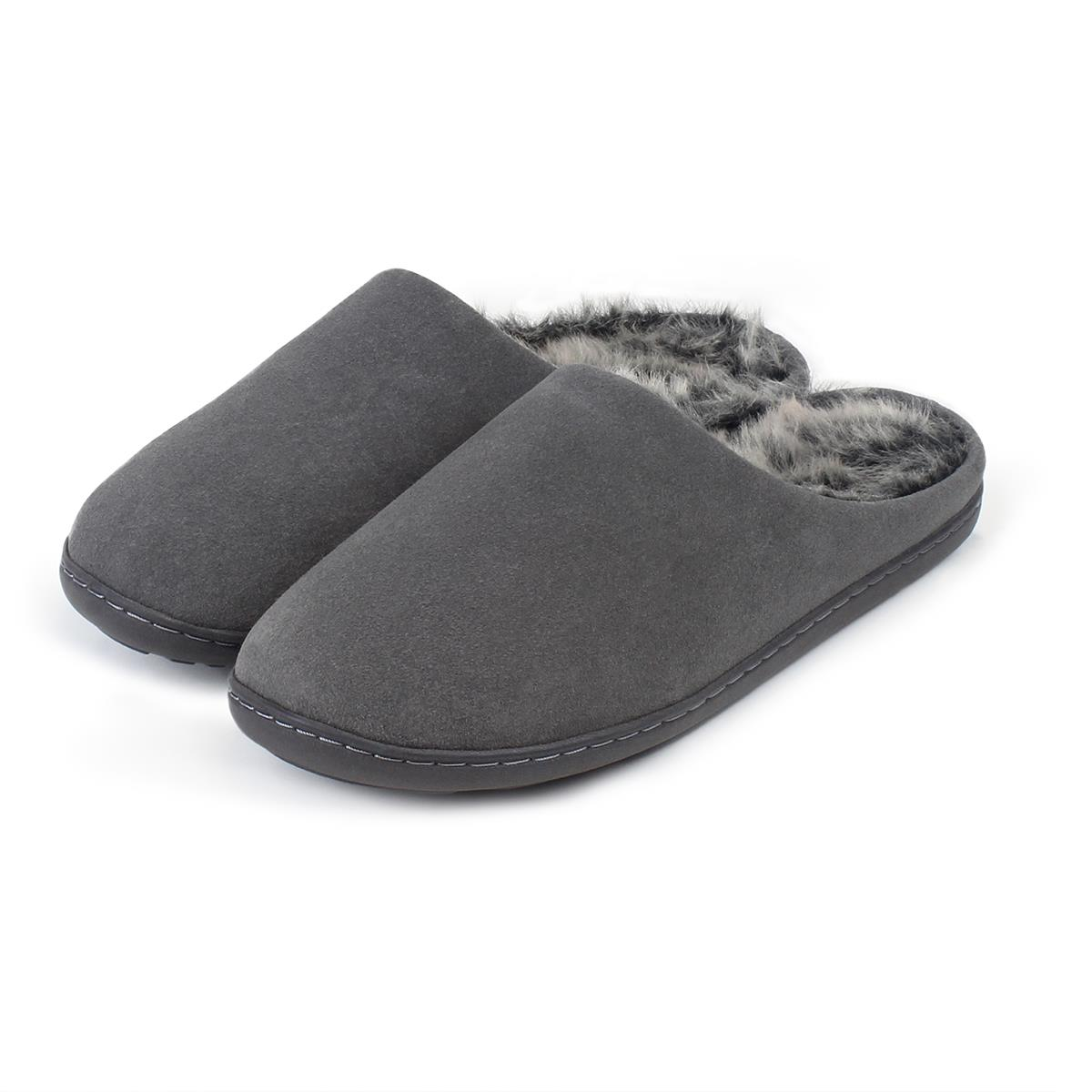 4b03a1fe45c6 Isotoner Mens Heritage Suede Mules Boxed Grey