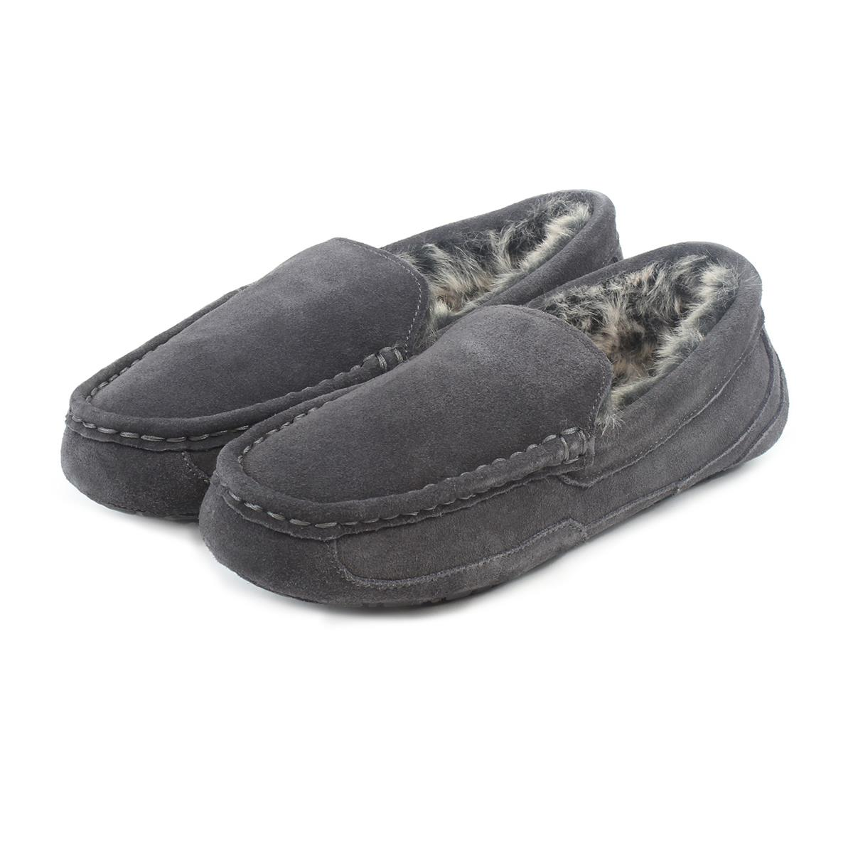 9dd9bd5397565 Isotoner Mens Heritage Suede Moccasin Boxed Slippers | totes ISOTONER