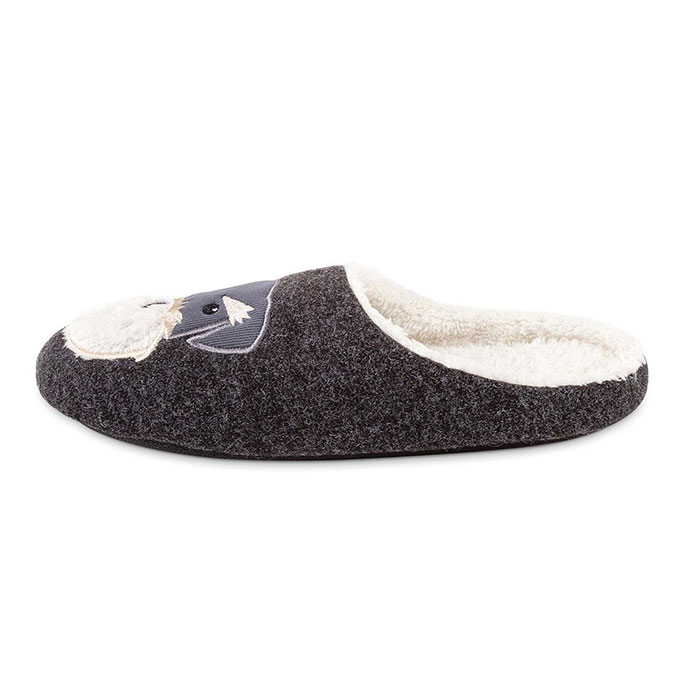 totes Mens Novelty Mule Slippers Dog