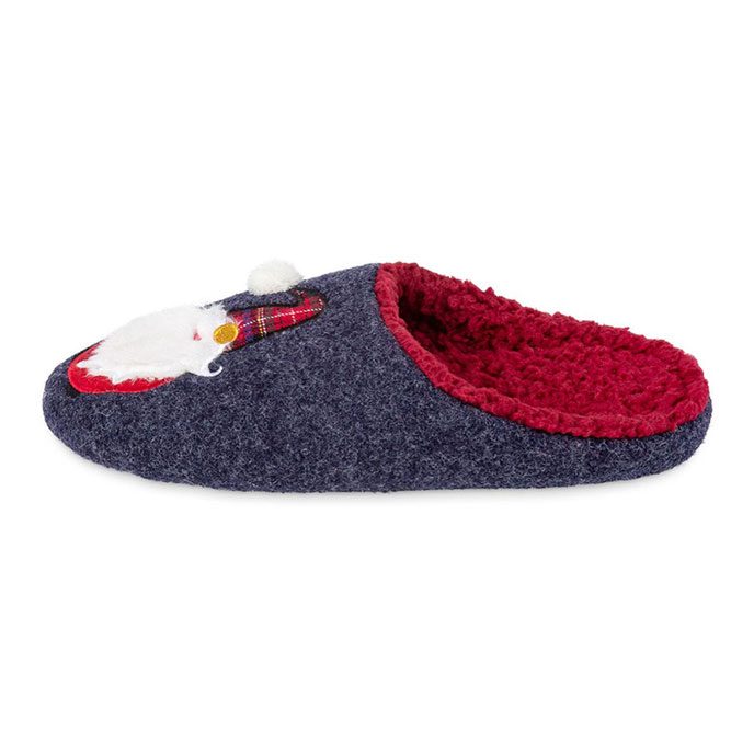 totes Mens Novelty Mule Slippers Santa