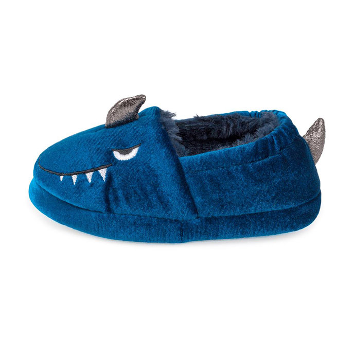 totes Childrens Slippers Blue Shark