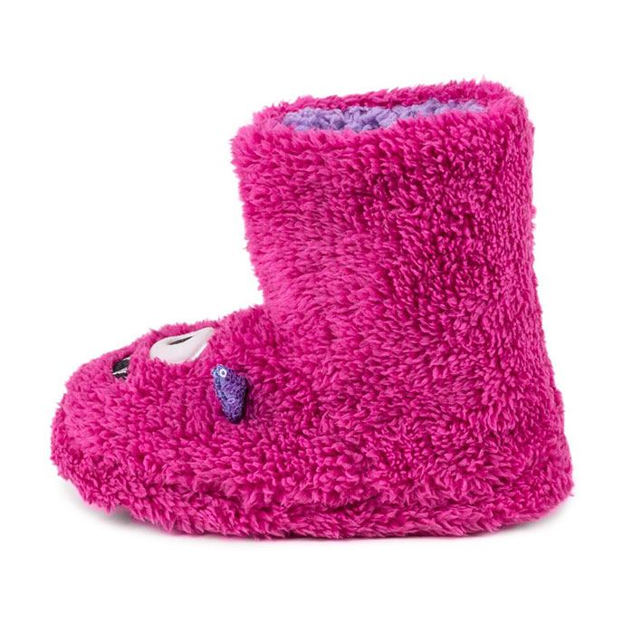 totes Children Monster Booties Pink Monster