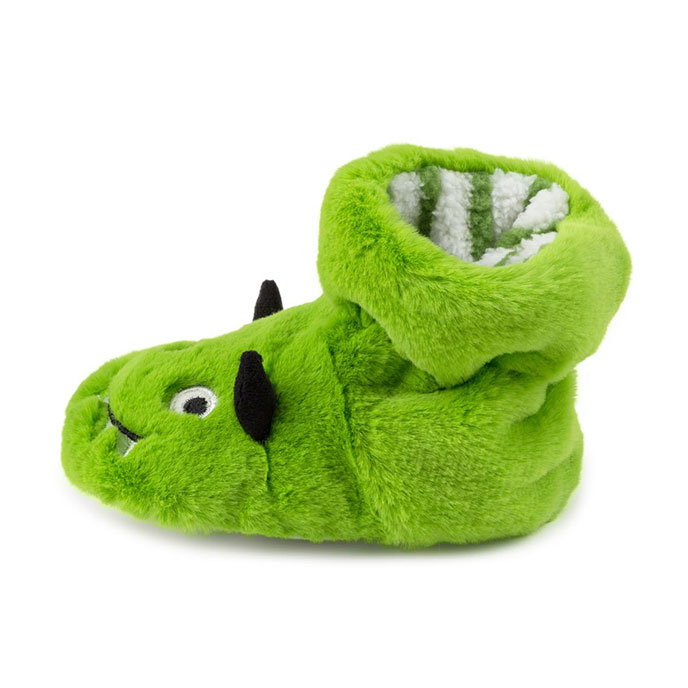 totes Kids Slippers Green Monster