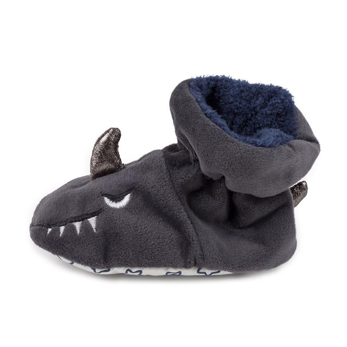 totes Kids Slippers Grey Shark