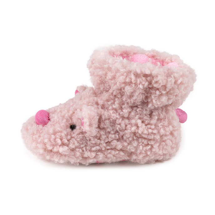 totes Kids Slippers Pink Pig