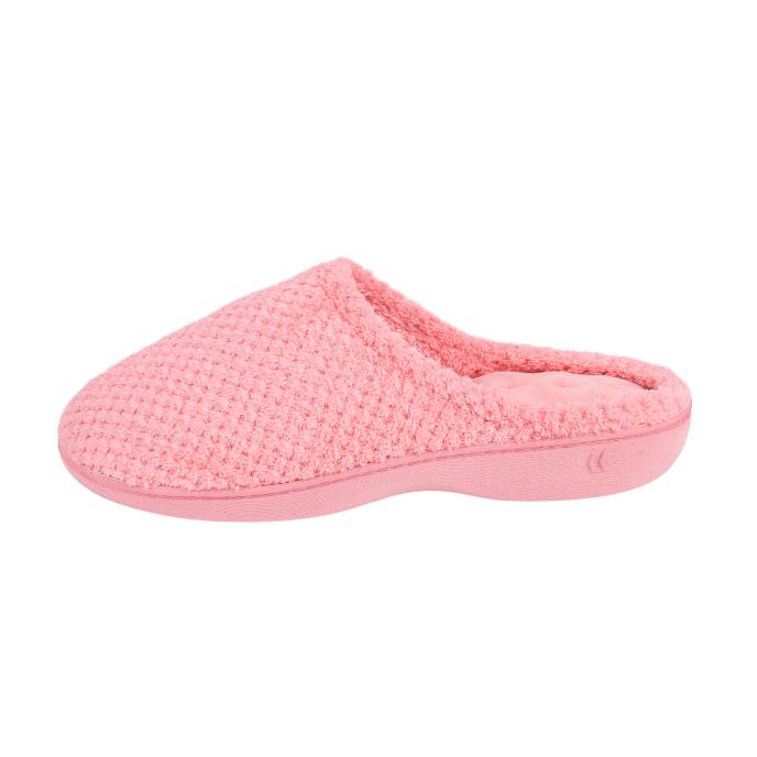 Isotoner Ladies Popcorn Terry Mule Slippers Blush