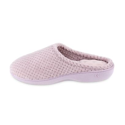 Isotoner Ladies Popcorn Terry Mule Slippers Lilac