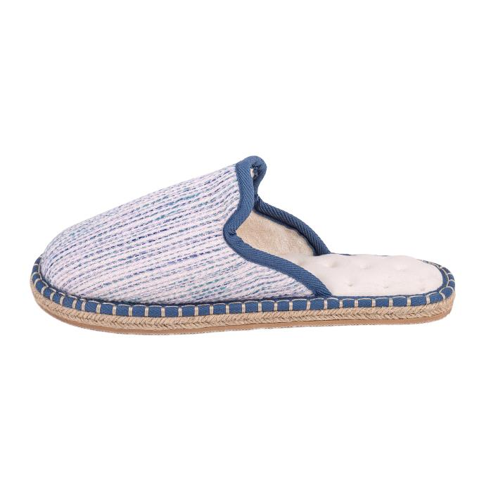 Isotoner Ladies Espadrille Mule Slippers Blue