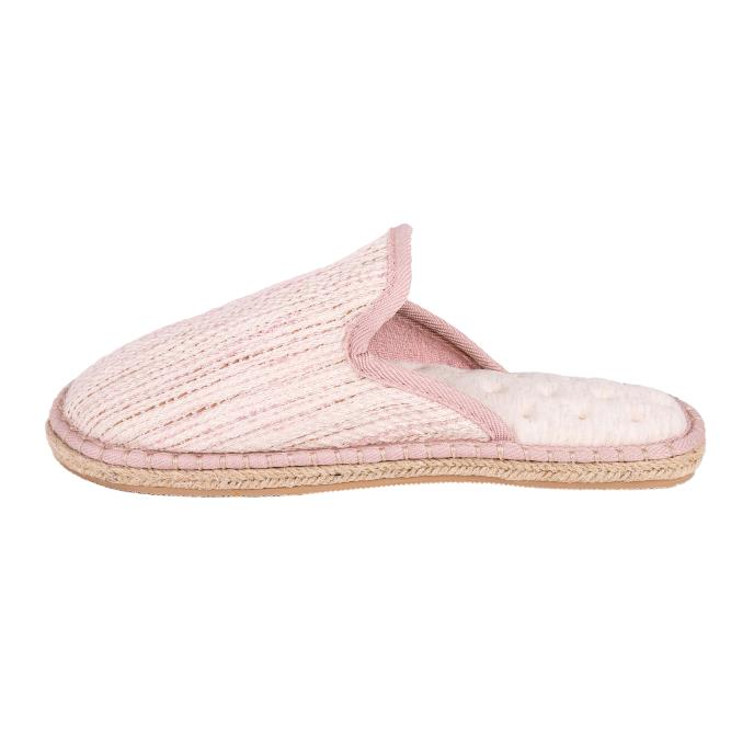 Isotoner Ladies Espadrille Mule Slippers Blush