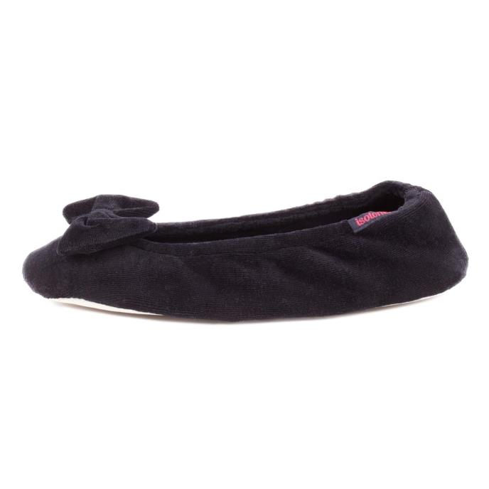 Isotoner Ladies Ballerina Slippers Black