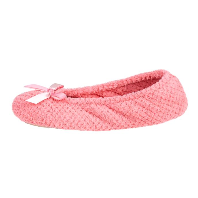 Isotoner Ladies Popcorn Ballet Slippers Blush