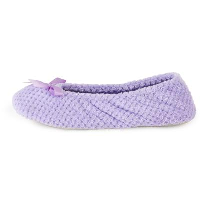 Isotoner Ladies Popcorn Ballet Slippers Lilac