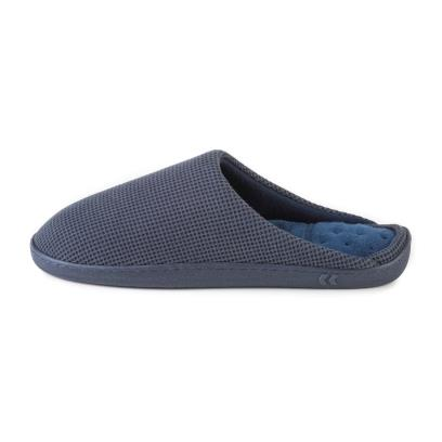 Isotoner Mens Classic Textured Mule Slippers Navy