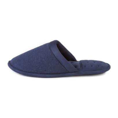 Isotoner Mens Textured Mule Slippers  Navy