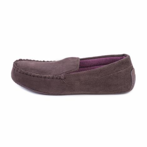isotoner Mens Pillowstep Driving Moccasin Slippers Brown