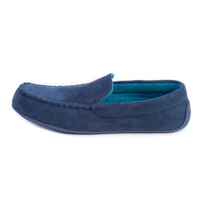 isotoner Mens Pillowstep Driving Moccasin Slippers Navy