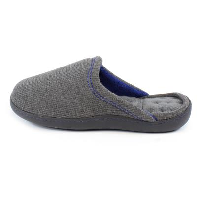 Isotoner Mens Waffle Mule Slippers Charcoal