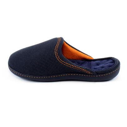 Isotoner Mens Waffle Mule Slippers Navy