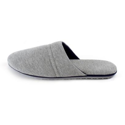 Isotoner Mens Jersey Mule Slippers Grey