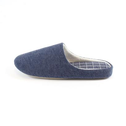 Isotoner Mens Patterned Mule Slippers Blue Marl