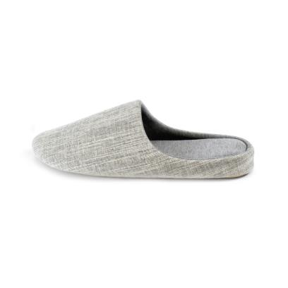 Isotoner Mens Patterned Mule Slippers Grey