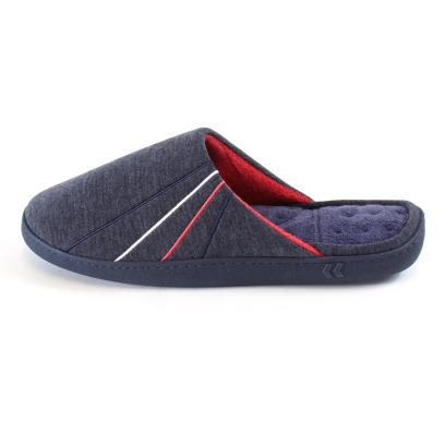 Isotoner Mens Jersey Mule Slippers Navy