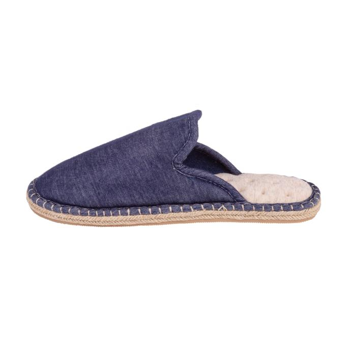Isotoner Mens Espadrille Mule Slippers Denim