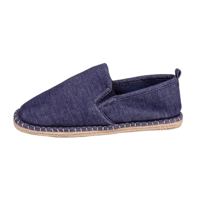 Isotoner Mens Espadrille Full Back Slippers Denim