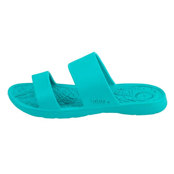 totes SOLBOUNCE Ladies Double Strap Slide Splash