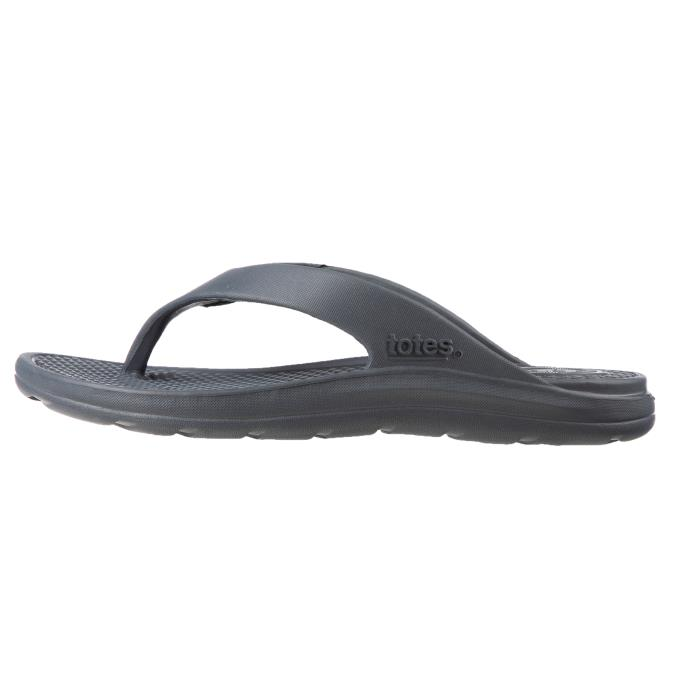 totes SOLBOUNCE Mens Toe Post Mineral