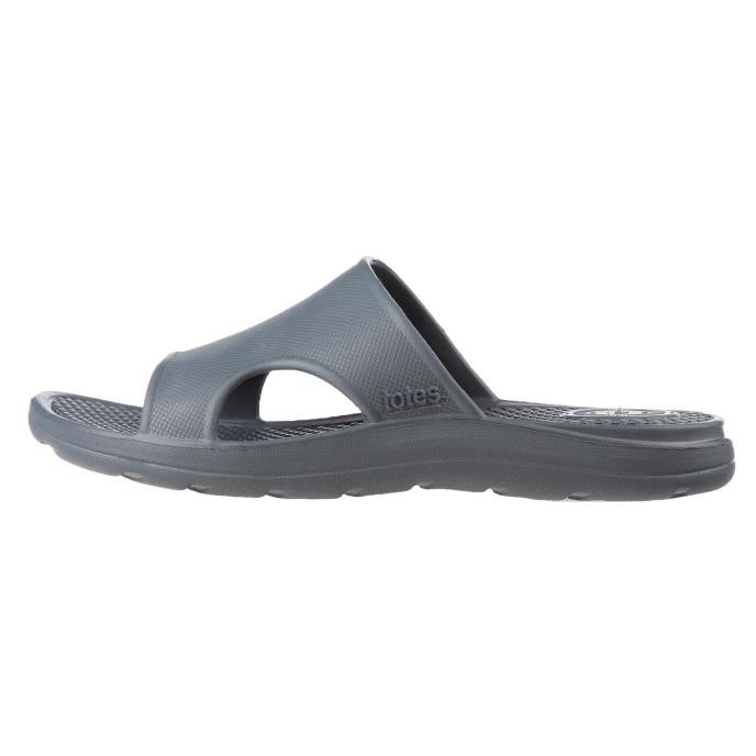 totes SOLBOUNCE Mens Vented Slide Mineral