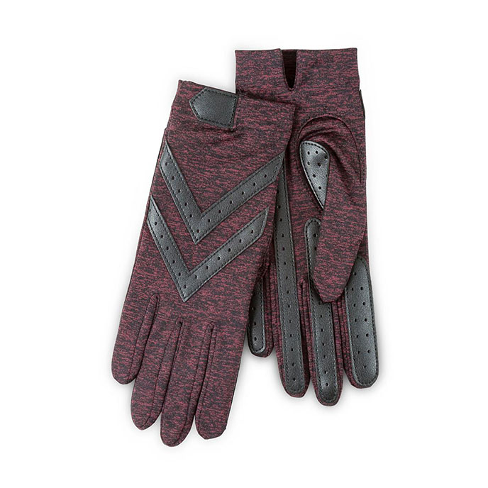 Isotoner Ladies Wonderfit Stretch Gloves Henna Heather