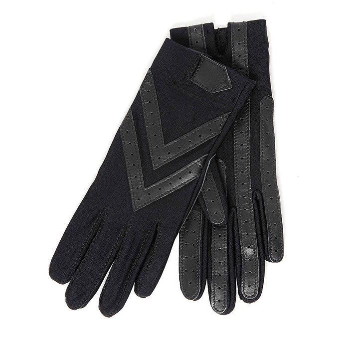 Isotoner Ladies Wonderfit Stretch Gloves Black