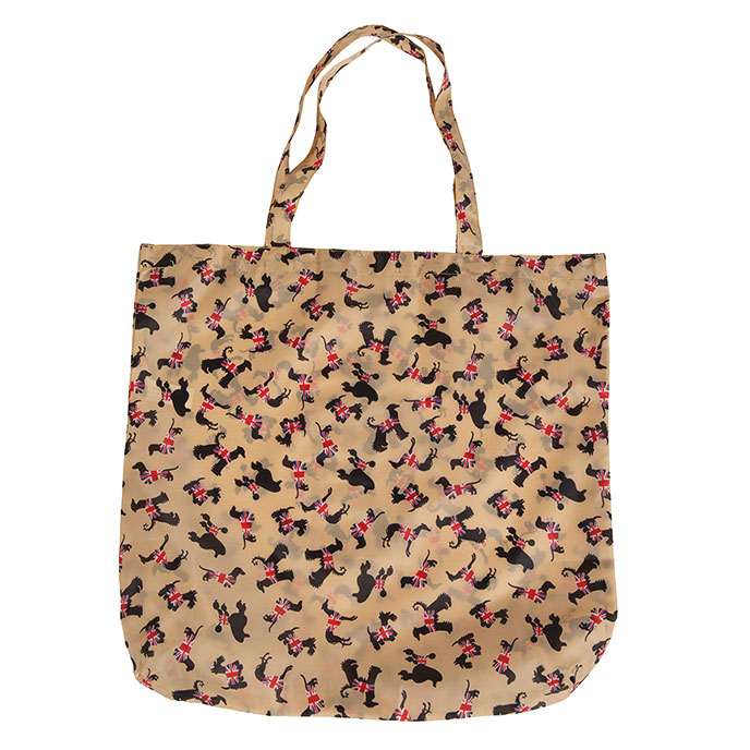 totes Dog Print Shopping Bag