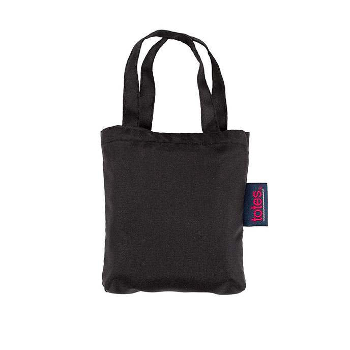 totes Plain Black Shopping Bag