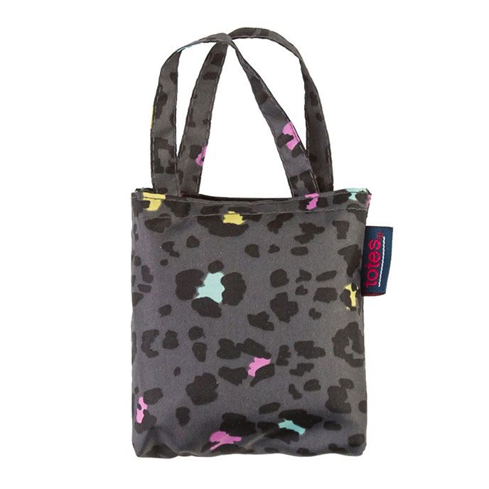 totes Panther Print Shopping Bag