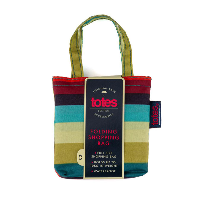 totes Bag in Bag Shopper Enchanted Stripe Print Shopping Bag