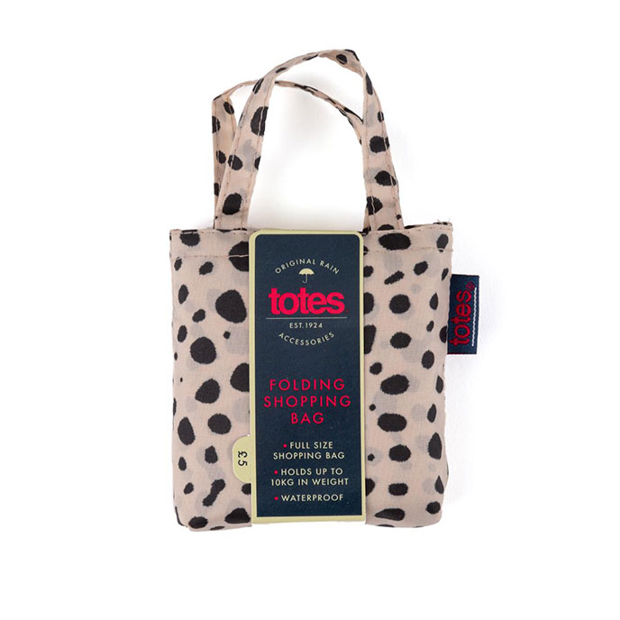 totes Bag in Bag Shopper Dotty Animal Print Umbrella
