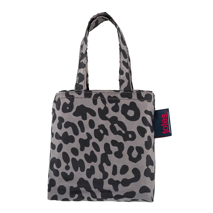 totes Taupe Leopard Print Shopping Bag